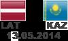 13.05.2013    Latvija -  Kazahstāna